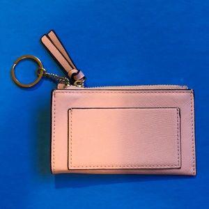 Pink key chain wallet